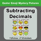 Easter Emoji: Subtracting Decimals - Color-By-Number Myste