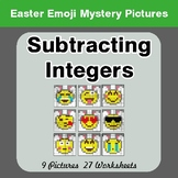 Easter Emoji: Subtracting Integers - Color-By-Number Myste