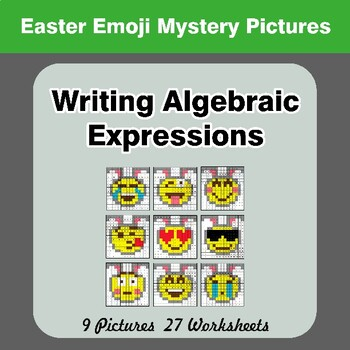 Easter Emoji: Writing Algebraic Expressions - Math Mystery Pictures