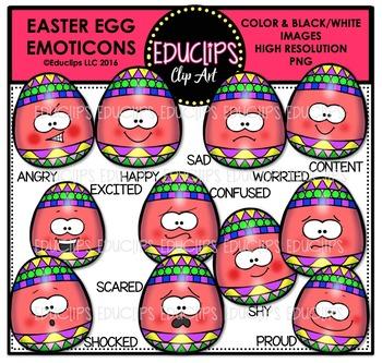 Easter Emoticons Clip Art Super Bundle  {Educlips Clipart}