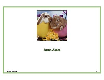 Easter English Vocabulary Game