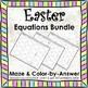 Spring Solving Equations Easter Math Equations Maze Color by Number SUPER BUNDLE