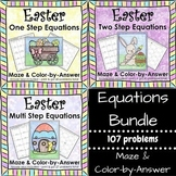 Spring Solving Equations Easter Math Equations Maze Color