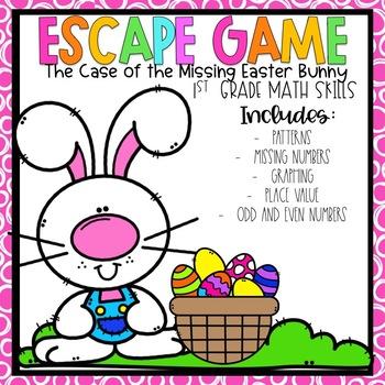 Easter Escape Room 1st grade Math Skills