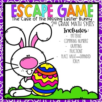 Easter Escape Room 2nd grade Math Skills