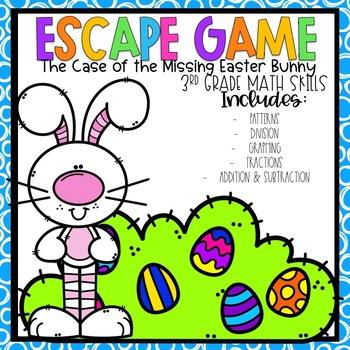 Easter Escape Room 3rd grade Math Skills