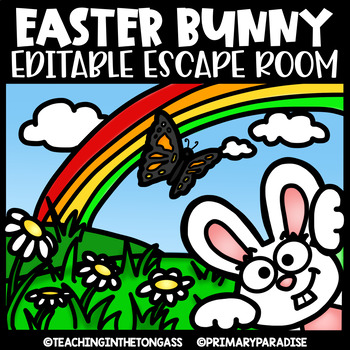 Easter Escape Room (Editable Escape Room Easter Activities)
