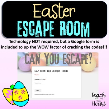 Easter Escape Room - Engaging reading of multiple genres (Non-Religious)
