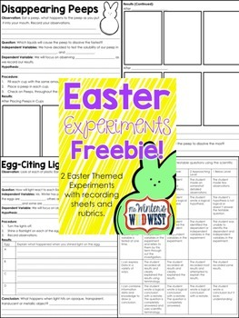 Easter Experiments Freebie