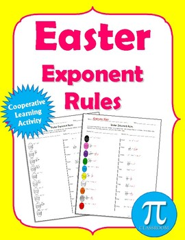 Easter Exponents Rules Cooperative Learning