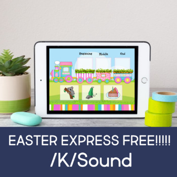 Easter Express for Articulation: K Sound (No Print)(Boom Card)(FREEBIE)
