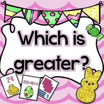 Easter Math Center Game FREE