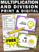 FREE 4th Grade Easter Math Activities Multiplication & Division Task Cards Games