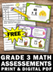 FREE Easter Math Activities 4th Grade Multiplication & Division Task Cards Games