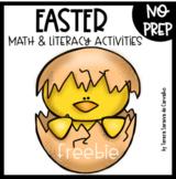 EASTER - MATH & LITERACY - FREEBIE