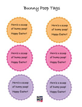 Easter FREEBIE- Bunny Poop Gift Tags