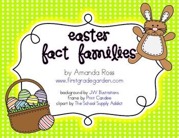 Easter Fact Families {A Math Freebie}
