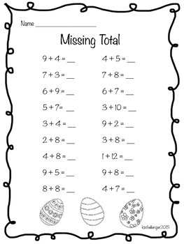 Easter Fact Practice