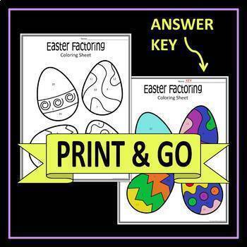 Easter Math Activity Factoring Trinomials