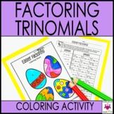 Easter Math Activity Factoring Trinomials
