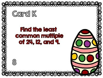 Easter-Factors and Multiples Scavenger Hunt