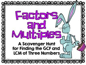 Easter-Factors and Multiples Scavenger Hunt