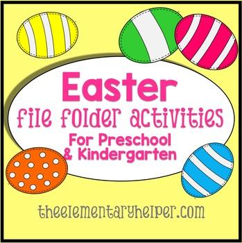 Easter File Folder Activities for Preschool and Kindergarten