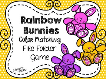 Easter File Folder Game: Bunny Color Matching