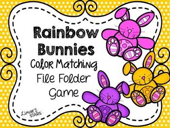 Easter File Folder Game: Bunny Color Matching