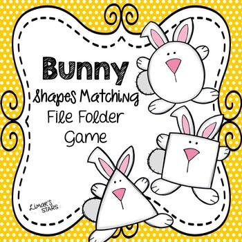 Easter File Folder Game: Bunny Shape Matching