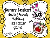 Easter File Folder Game: Letter to Initial Sound Matching A-L