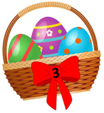 Easter File Folder Game: Numeral to Quantity Match 1-10