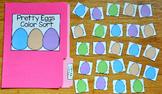 Easter File Folder Game:  Pretty Eggs Color Sort