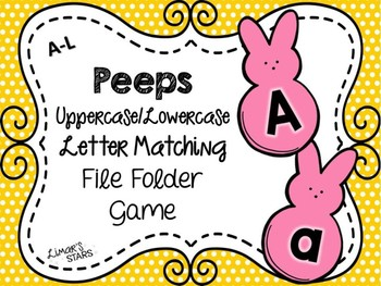 Easter File Folder Game:  UPPERCASE to lowercase Matching A-L