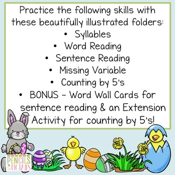 Easter File Folder Games - Morning Work, Center Activities, Small Group & More!