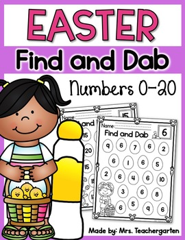 Easter Find and Dab (Numbers 0-20)