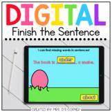 Easter Finish the Sentence Spelling Digital Activity | Dis