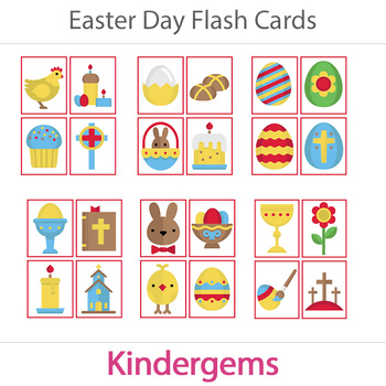Easter Flash Cards Instant Download PDF; Preschool, Kinder