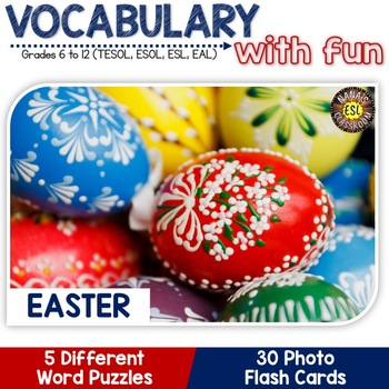 Easter: 5 Different Word puzzles and 30 Photo Flash Cards