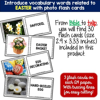 Easter 5 Word Puzzles and 30 Photo Flash Cards BUNDLE