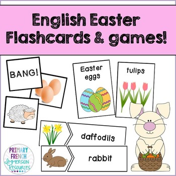 Easter! Flashcards, word wall cards, and centre games