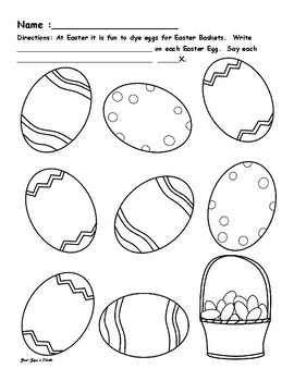 Easter Flexible Articulation and Language Sheets