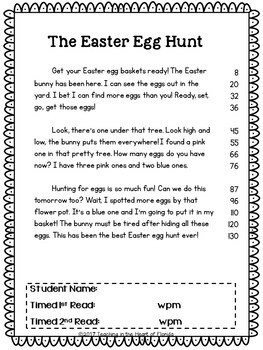 Easter Fluency Pyramid Sentences