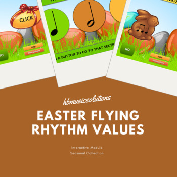 Easter Flying Rhythm Values - Music Interactive Module