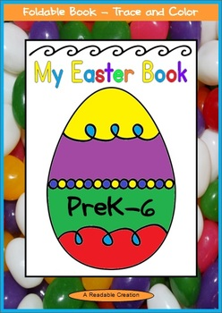Easter Foldable Book - Trace and Color {Freebie}