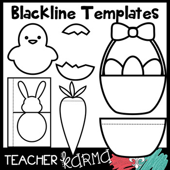 Easter Foldables, Interactives, Flip Book Templates