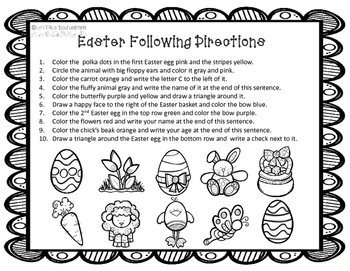 Easter Following Directions
