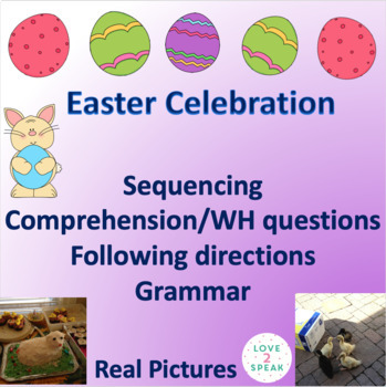 Easter Following Directions, Reading Comprehension & Seque
