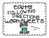 Easter Following Directions Worksheets