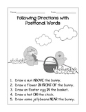 Easter Following Directions with Positional Words